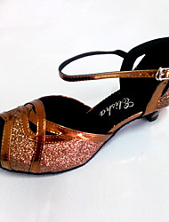 Customized Latin Women's Sandals Customized Heel Dance Shoes