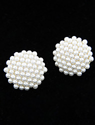 Stud Earrings Pearl Imitation Pearl Alloy Fashion Jewelry 2pcs