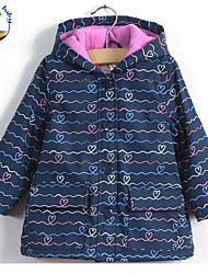 Girl's Winter/All Seasons/Spring/Fall Opaque Long Sleeve Trench Coat (Cotton Blend)