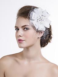 Hot Drilling Women Organza/Net Flowers Wedding/Party Headpiece