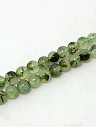Beadia 39Cm/Str (Approx 64PCS) Natural Prehnite Beads 6mm Round Genuine Green Sonte Loose Beads DIY Accessories