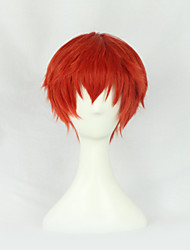 Perruques de Cosplay Assassinat de classe Cosplay Rouge Court Anime Perruques de Cosplay 30 CM Fibre résistante à la chaleurMasculin /
