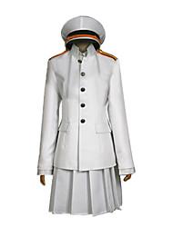 Inspiré par Kantai Collection Cosplay Vidéo Jeu Costumes de cosplay Costumes Cosplay Couleur Pleine Blanc Manche LonguesManteau /