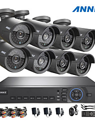ANNKE® 8CH AHD 720P DVR/HVR/NVR+8 720P 1.0MP AHD IP Camera 100ft Night Vision Weatherproof Security System