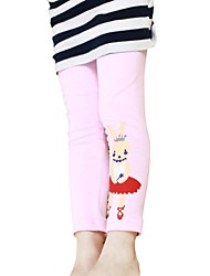 Girls Autumn Spring Animal Rabbit Printed Warm Tights Pants Candy Color Leggings (Cotton Blend)