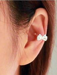 Stud Earrings Imitation Diamond Alloy Bowknot Jewelry For 2pcs