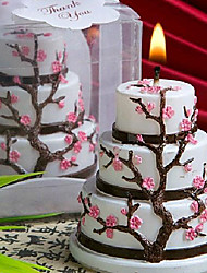 3-layer Cake Shaped Candle Gift Set with Cherry Blossoms Decoration