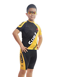 Short Sleeve Cycling Polyester +Coolmax Jersey and Pant Set Wear Clothing for Kid's