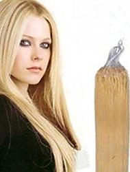 1pc/Lot 16Inch/40cm multicolors Straight micro ring hair Extension Grade5A Human Hair Extension 100s/Pack 0.4g/s