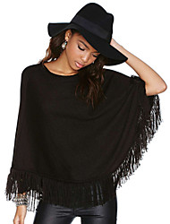 Women's Vintage Casual Inelastic ¾ Sleeve Regular T-shirt (Knitwear)