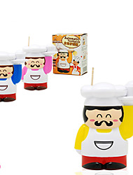 Novelty Fat Chef Shaped Automatic Toothpick Box Holder (Random Color)