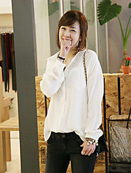 Overhemdkraag - Polyester Vrouwen - Overhemd - Lange mouw