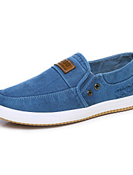Chaussures Hommes Extérieure / Décontracté Bleu / Marine Toile de jean Mocassins