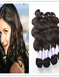 3pcs / lot à bas prix cheveux de vague de corps brésilien vierges faisceaux de trame de cheveux humains
