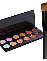 New 12Colors Salon Contour Face Cream Makeup Concealer Palette+1PCS Makeup Foundation Brushes