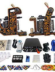 solong tattoo beginner tattoo kit pro 2 machinegeweren voeding naald grips tips