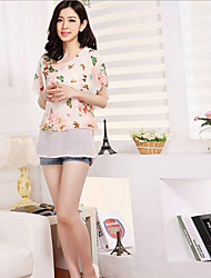 "Women""s Summer New Loose Chiffon Shirt"