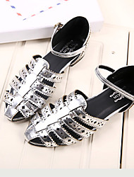 Women's Shoes Flat Heel Comfort Sandals Casual White/Silver
