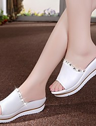 Women's Shoes Pure White Graceful Wedge Heel Comfort Sandals/Slippers