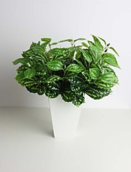 "11.8"" Artificial Green Plant 50 Leaves Pilea Notata for Decoration"