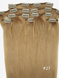 """20 """"-22"""" 8pcs clip 100g en extension de cheveux droite clip plein la tête humaine dans des couleurs de cheveux disponibles extensionmany"""