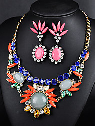 Earrings Necklace Suit