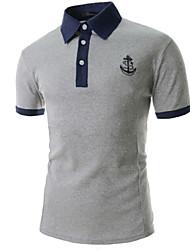 Men's Casual/Sport Pure Long Sleeve Regular T-Shirt