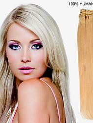 20inch 10st / set 160g clip-in hair remy human hair extensions 12 kleuren voor vrouwen schoonheid