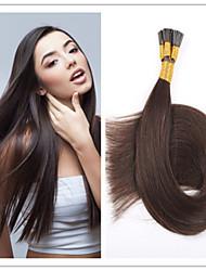 100% brésiliens extensions de cheveux humains vierges doux i pencher extension de cheveux 1g / s 100g / pc 1pc / lot pré-collé en stock