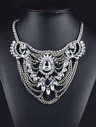 Alloy Plated With Cubic Zirconia Fashion Necklace