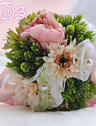 "Wedding Flowers Round Roses Bouquets Wedding Bead 8.27""(Approx.21cm)"