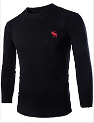 IFYOU Men's Casual Round Long Sleeve Sweaters