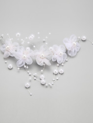 Women's Flower Girl's Alloy Imitation Pearl Chiffon Headpiece-Wedding Special Occasion Flowers 1 Piece