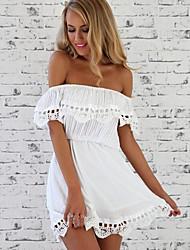 NUNEU   Women's Sexy Off-the-shoulder Dresses (Cotton/Lace)