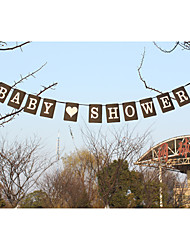 """nova !!! papel kraft """"bebê"""" shpwer banners festa de casamento"""