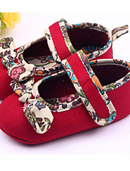 Baby Shoes Casual Fabric Flats Red/White