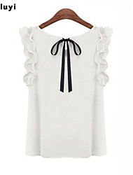 Women's Casual/Work Micro-elastic Sleeveless Regular Blouse (Chiffon)