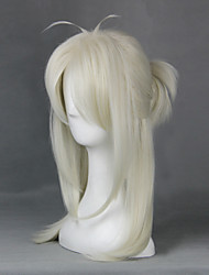 Cosplay Wigs Cosplay Cosplay White Medium Anime Cosplay Wigs 55 CM Heat Resistant Fiber Male