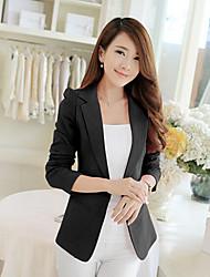 MengJi Women's Casual/Work Long Sleeve Coats & Jackets (Polyester)