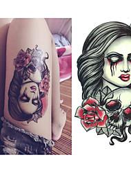 hrůza duch smrti tetování samolepky dočasné tetování (1 ks)