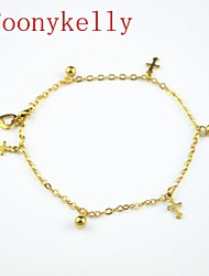 Toonykelly® 24CM Stainless Steel Women Gold Payer Anklet Jewelry (1PC)