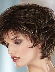 cor da moda de alta qualidade cabelo europeu e americano perucas perucas naturais onda
