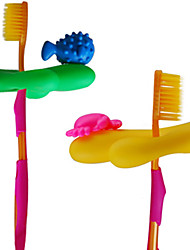 Coral Reefs Bathroom Toothbrush Holder Wall Attachable Suction Hook (Random Color)