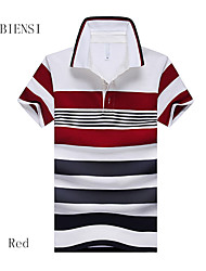 The summer of 2015 new fringe code Mens Short Sleeved T-shirt Lapel men's short sleeved POLO shirt