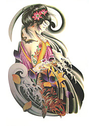 Oriental Goddess Tattoo Stickers Temporary Tattoos(1 Pc)