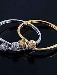 Bracelet - en Zircon Cubique/Plaqué Or - Vintage/Mignon/Soirée/Travail/Décontracté - Rigide