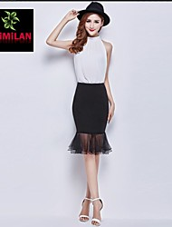 YIMILAN® Women's The New 2015 Fashion Sexy Fishtail Skirts One Pace