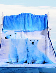 Polar Bear is on Your Bed Today Blanket Winter on the Sofa Throw 3D Vivid Blankets Best Cool Gift