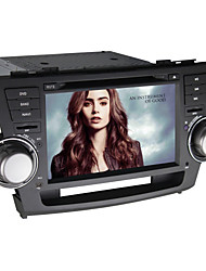Quad-Core Android4.4 2 Din 7 inch 1024 x 600 Car DVD GPS Navi for Toyota Highlander 2008-2011 with Built-in WIFI/Radio
