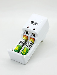GP KB02GW Battery Charger for AA/AAA Batteries with US Plug(Included 2xAA 700mAh Rechargeable Batteries)